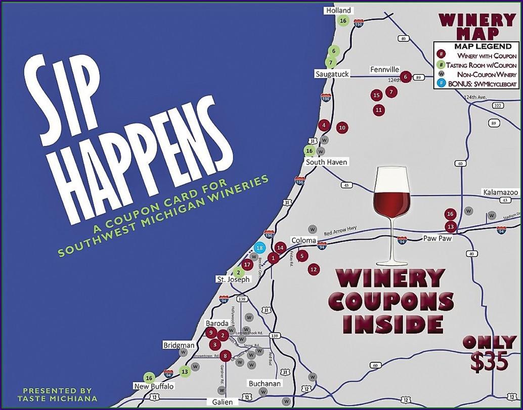 Southwest Michigan Brewery Map