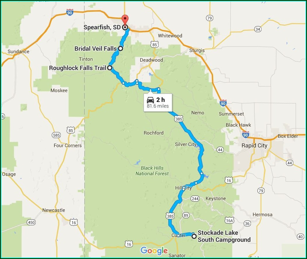 Spearfish Canyon Byway Map
