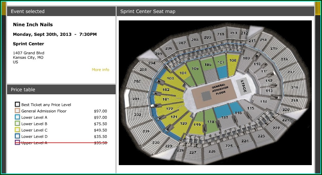 Sprint Center Suite Map