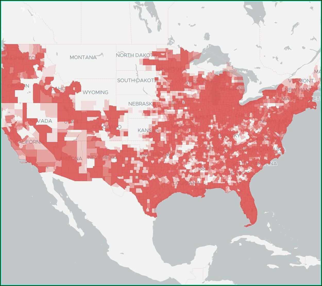 Sprint Pcs Coverage Map