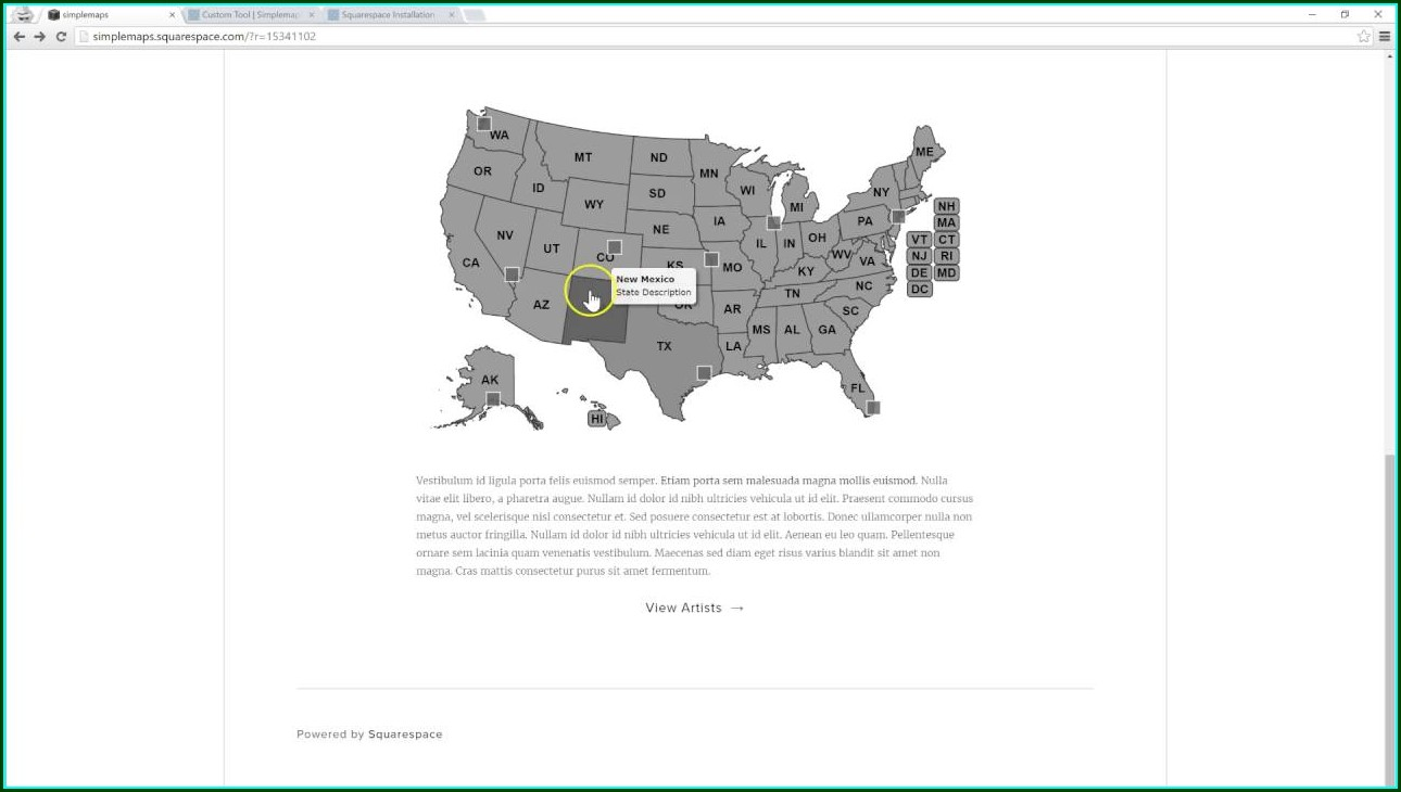 Squarespace Map With Multiple Pins