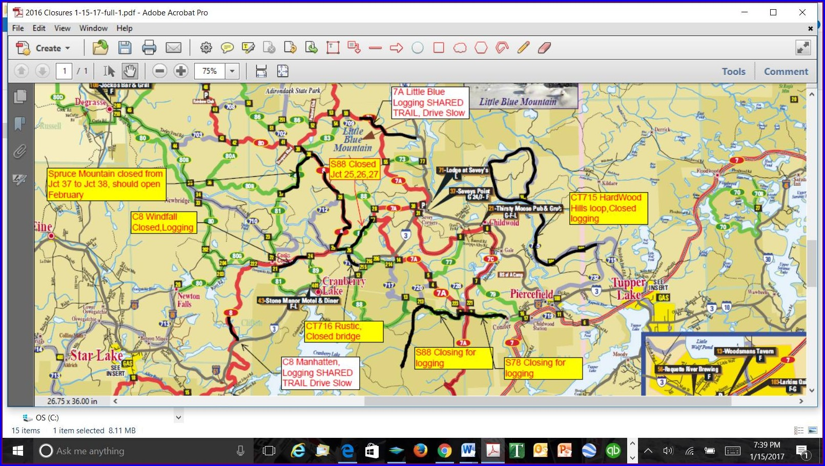 St Lawrence County Snowmobile Trail Map