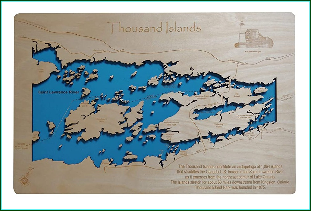 St Lawrence River Topographic Map