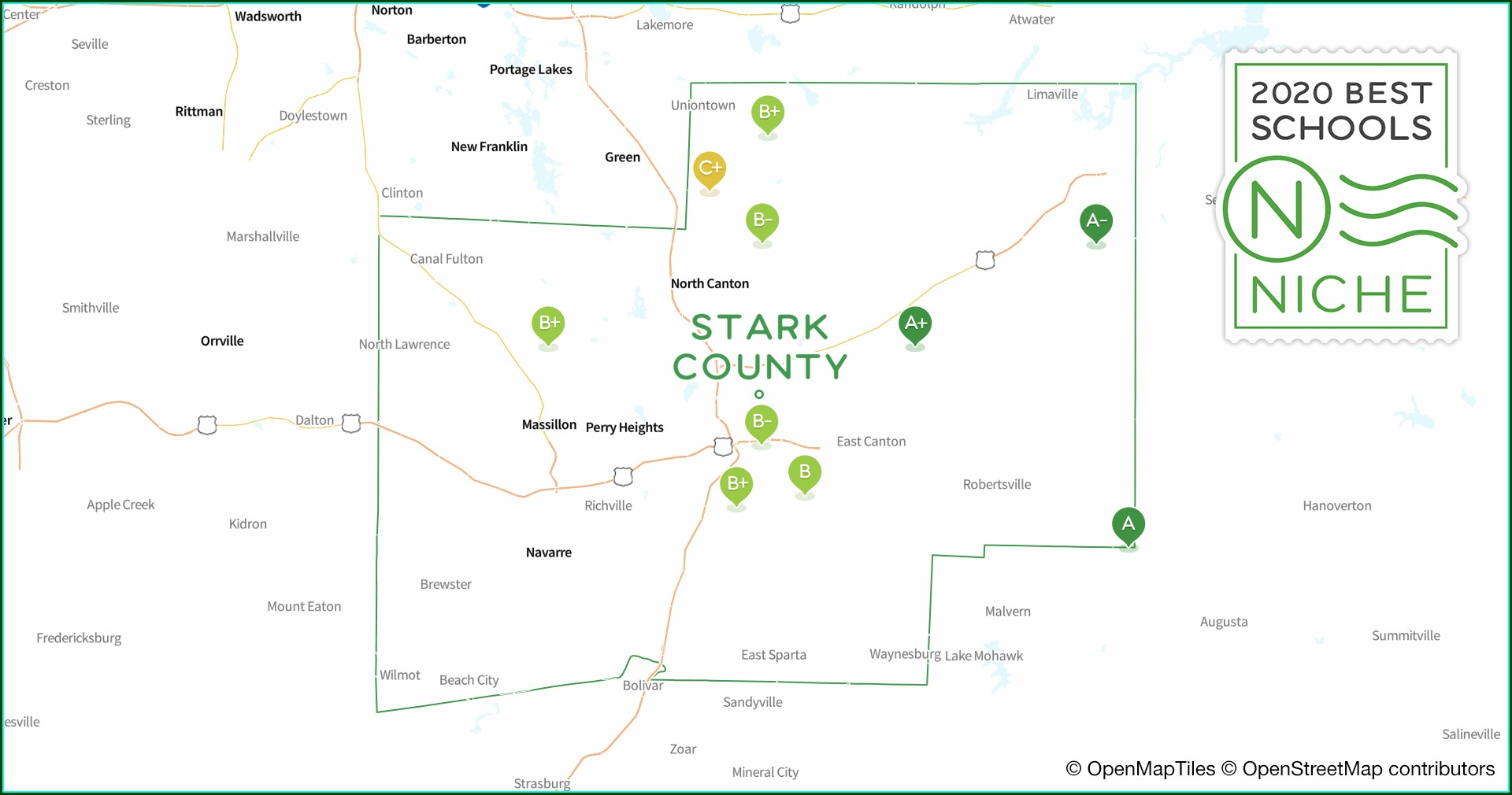 Stark County Ohio School District Map