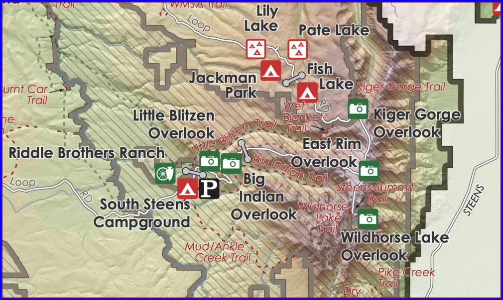 Steens Mountain Map Oregon