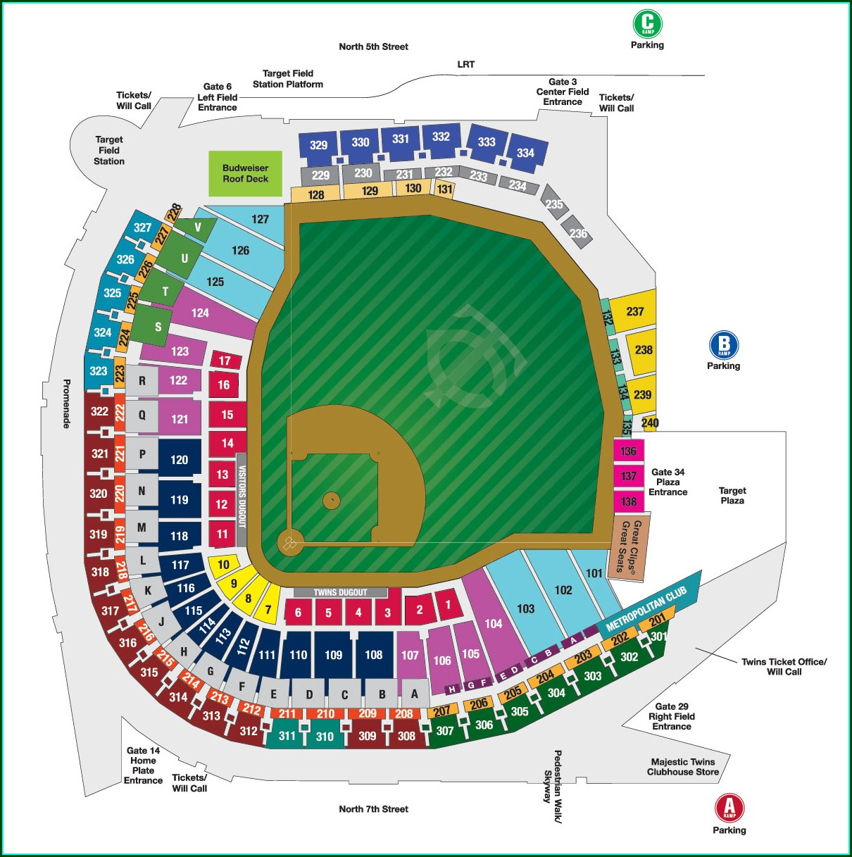 Steinbrenner Field Seat Map