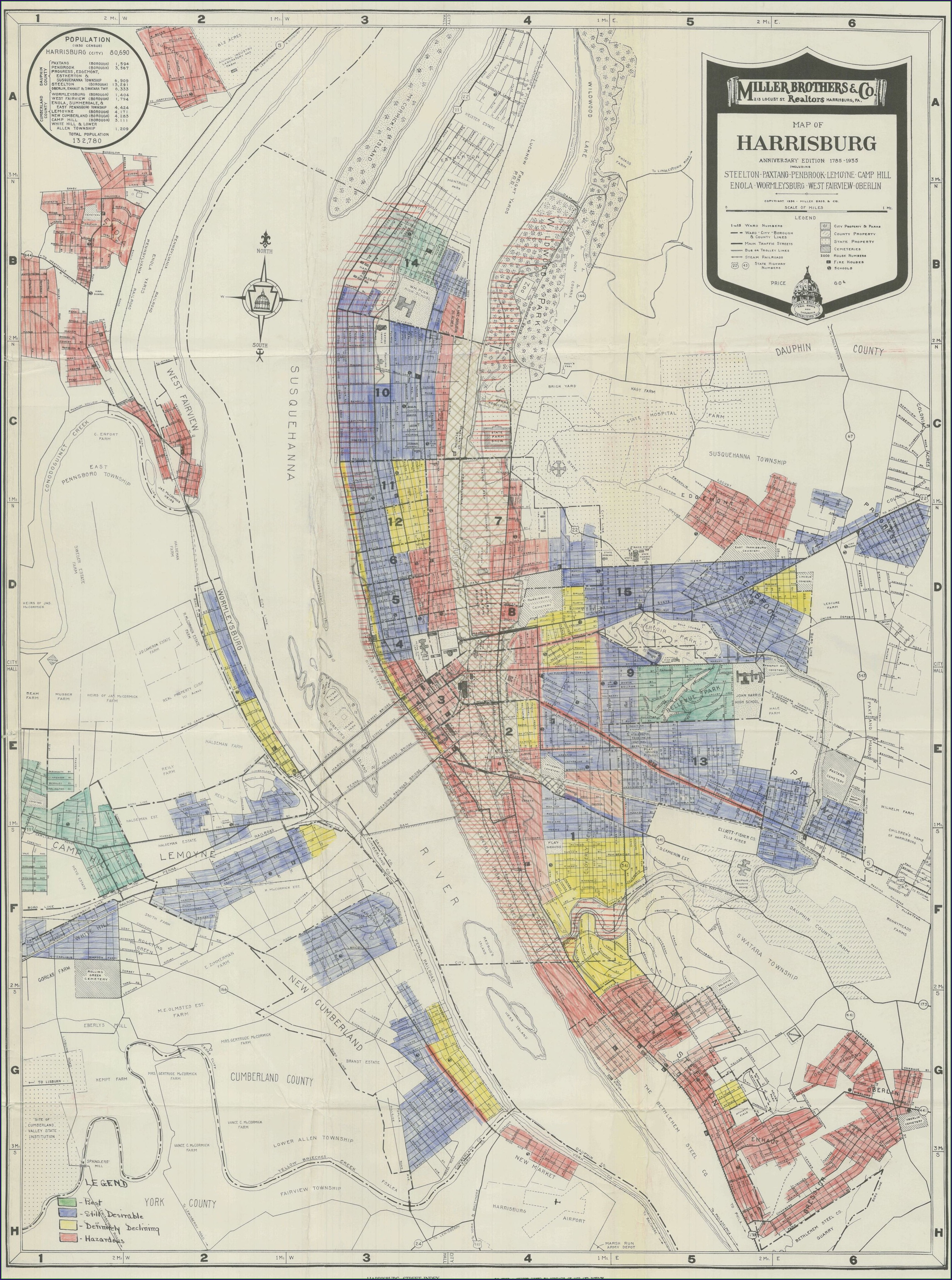Street Map Of Downtown Harrisburg Pa