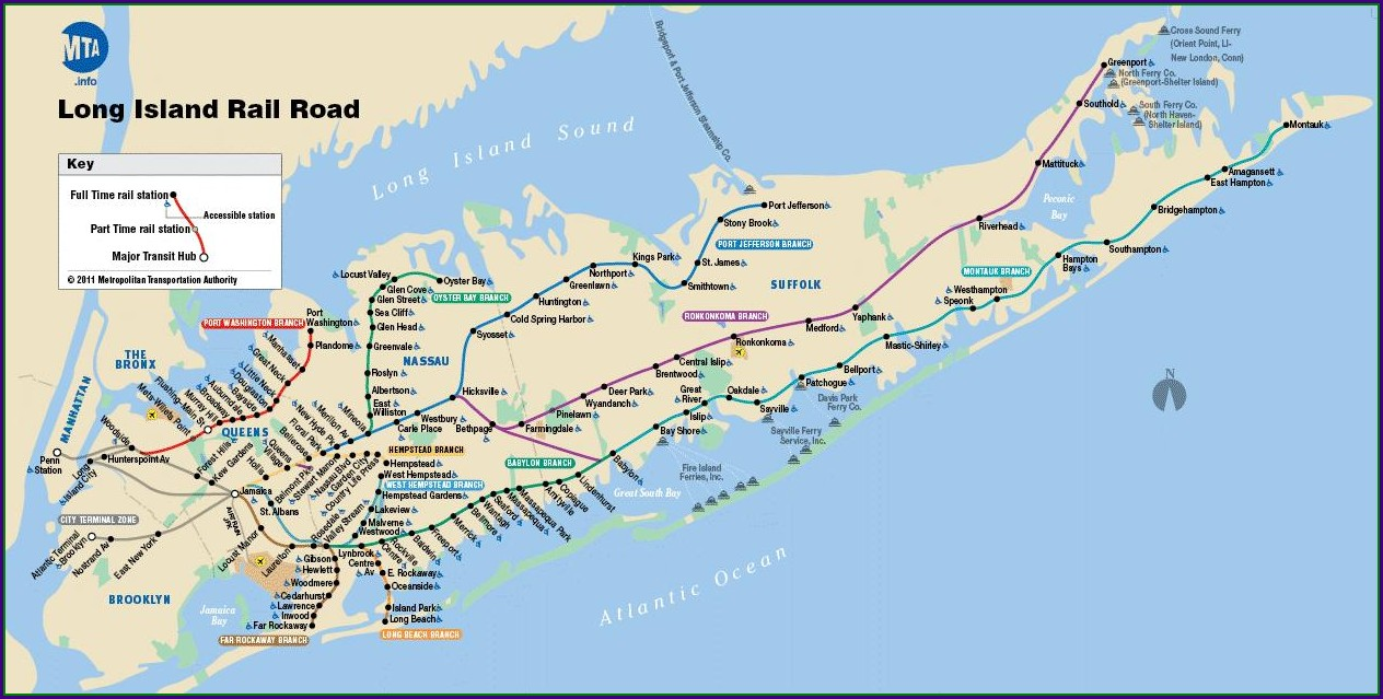 Suffolk County Transit Map