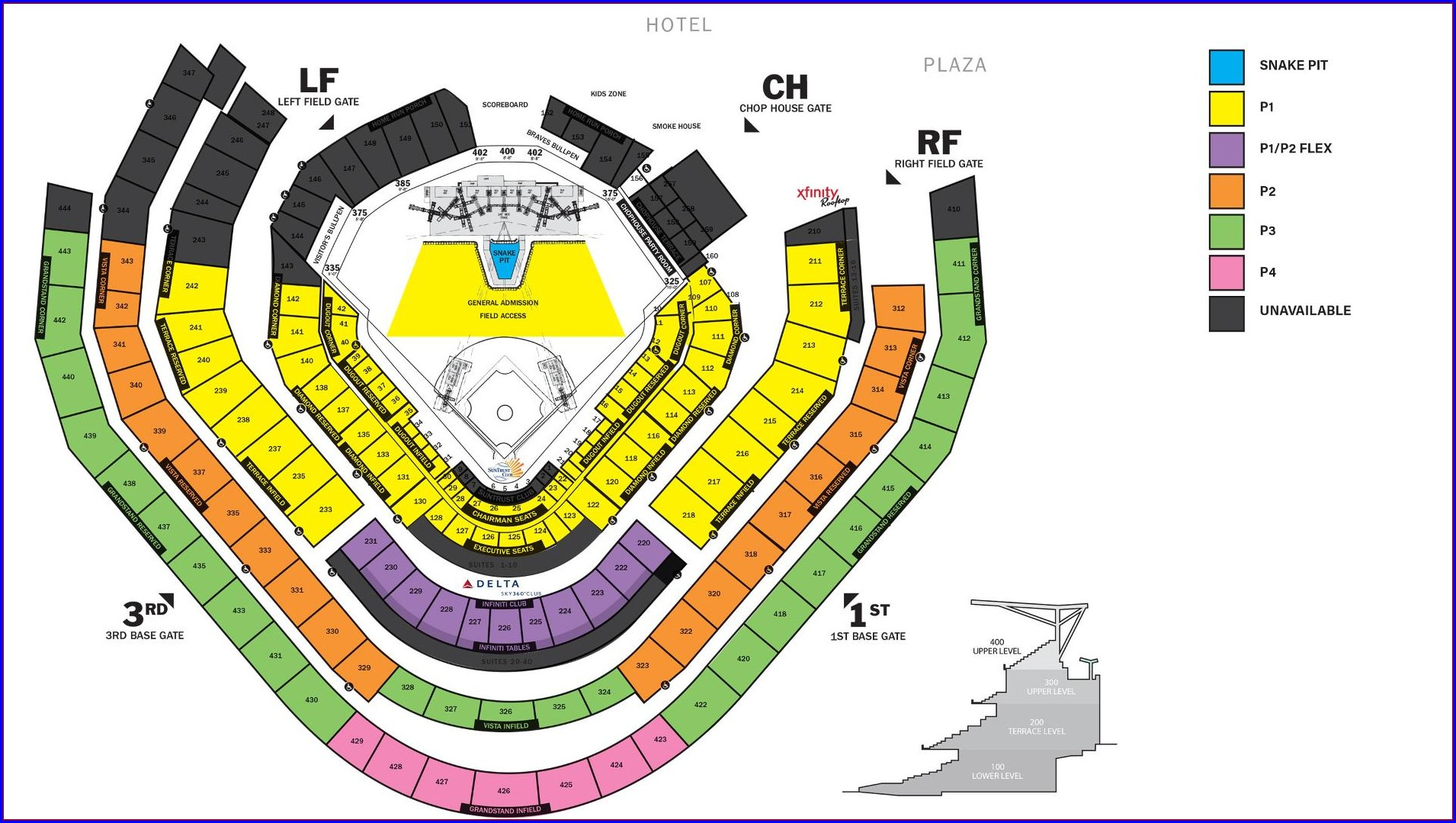 Suntrust Stadium Seat Map
