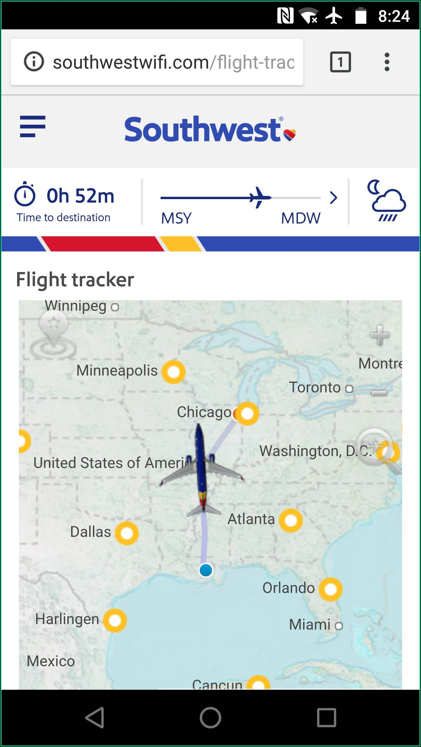 Swa Flight Tracker Map