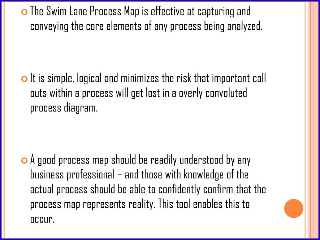 Swim Lane Process Map Template Powerpoint