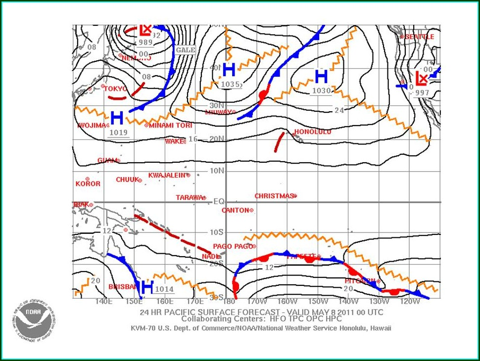 Synoptic Weather Maps Display Weather Data That
