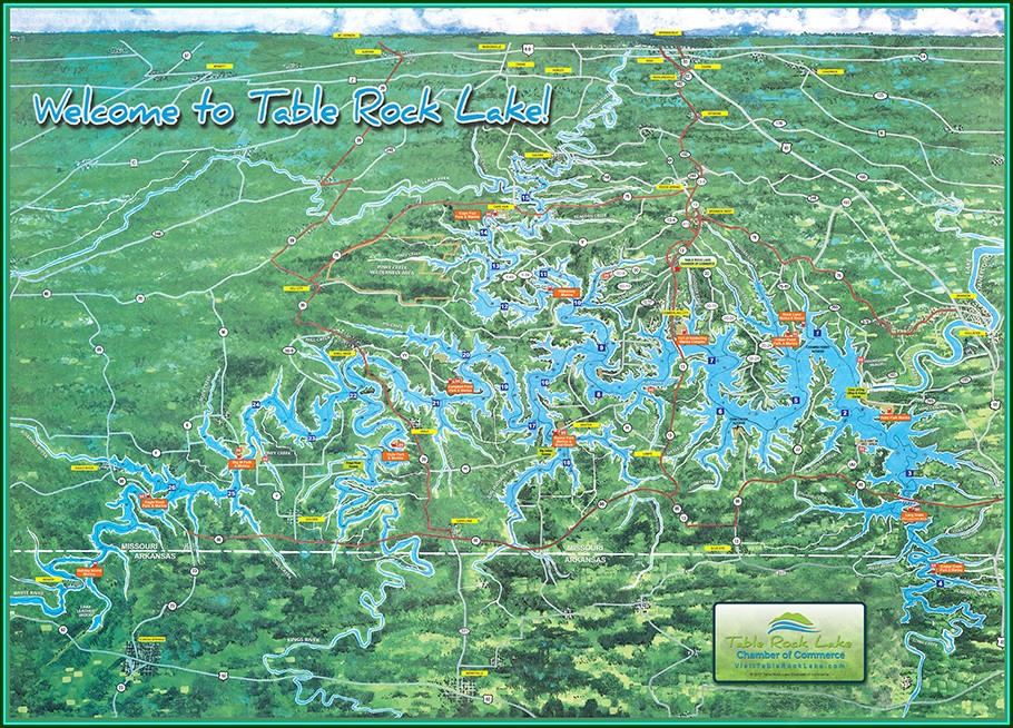 Table Rock Lake Map With Marinas
