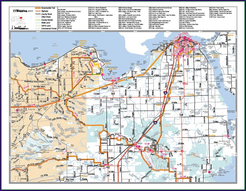 Taconite Snowmobile Trail Map