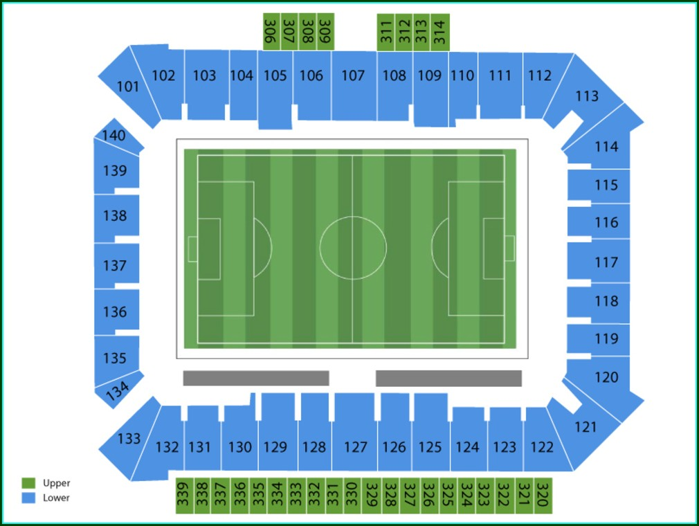 Talen Energy Stadium Seat Map