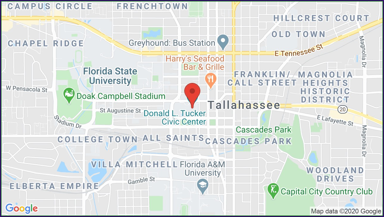 Tallahassee Civic Center Map