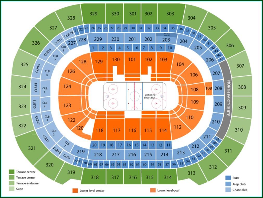 Tampa Bay Lightning Arena Map