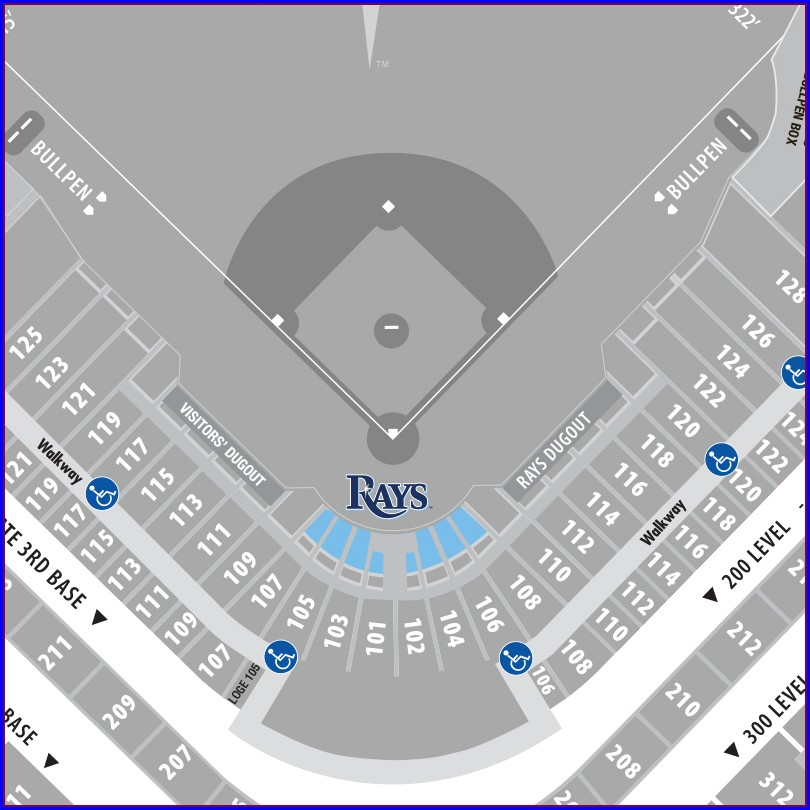 Tampa Bay Rays Parking Map