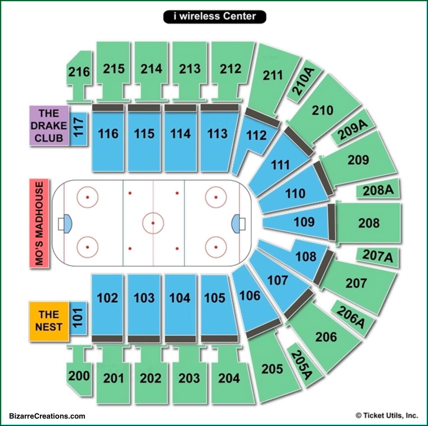 Taxslayer Center Seating Map