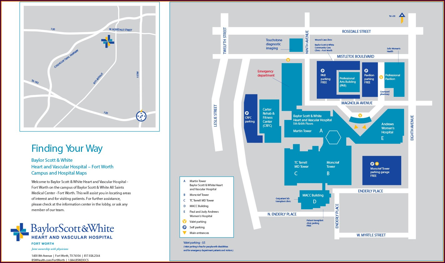 Temple Texas Baylor Scott And White Temple Hospital Map