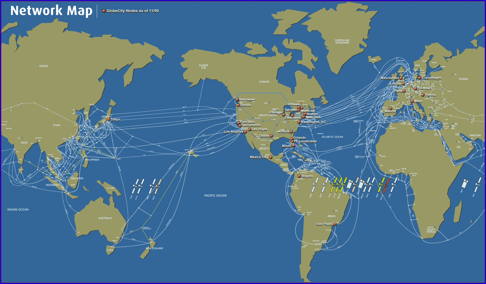 Terrestrial Fiber Optic Cable Map Africa