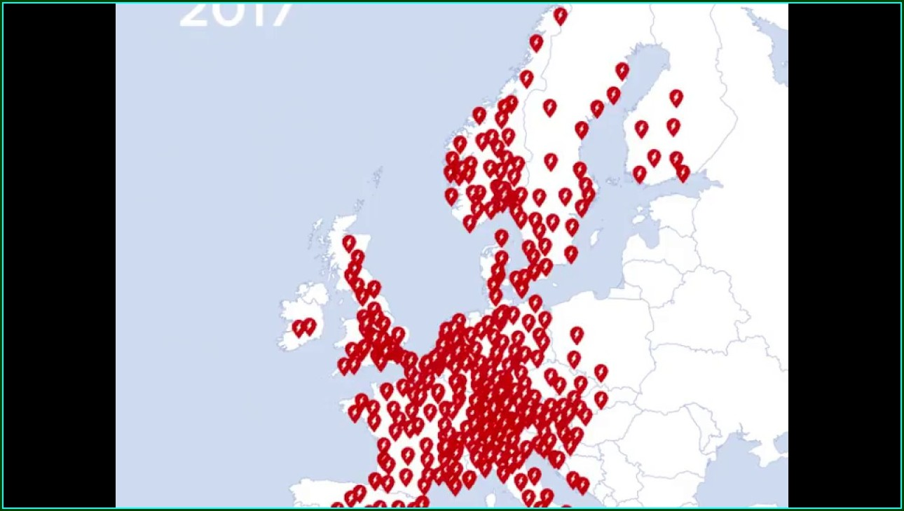 Tesla Supercharger Map Europe 2018