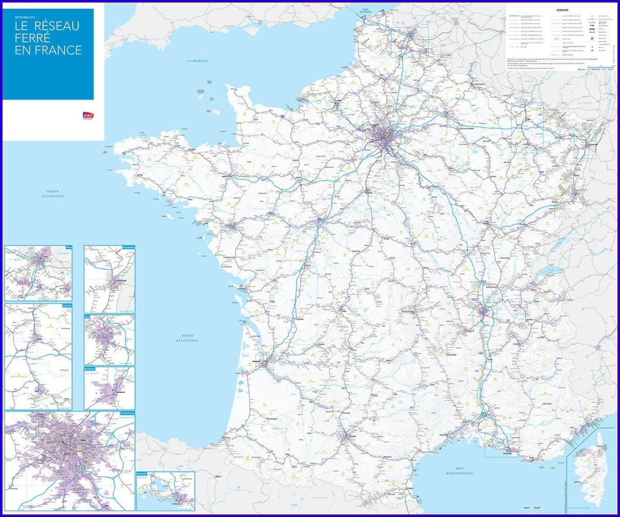 Tgv Network Map 2017