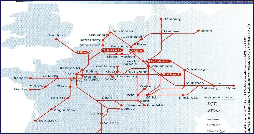 Tgv Network Map 2018