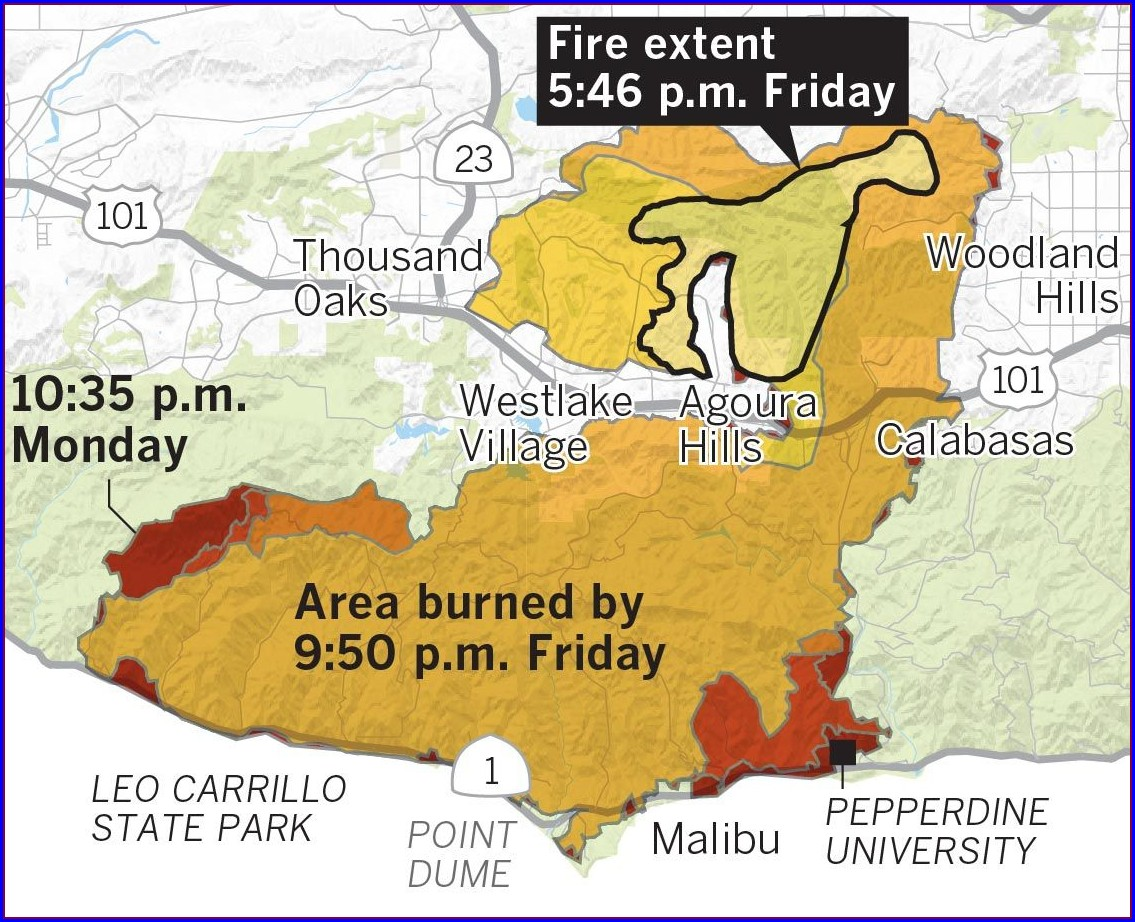 The Woolsey Fire Map