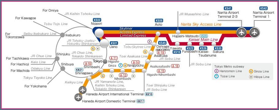 Tokyo Keisei Line Map