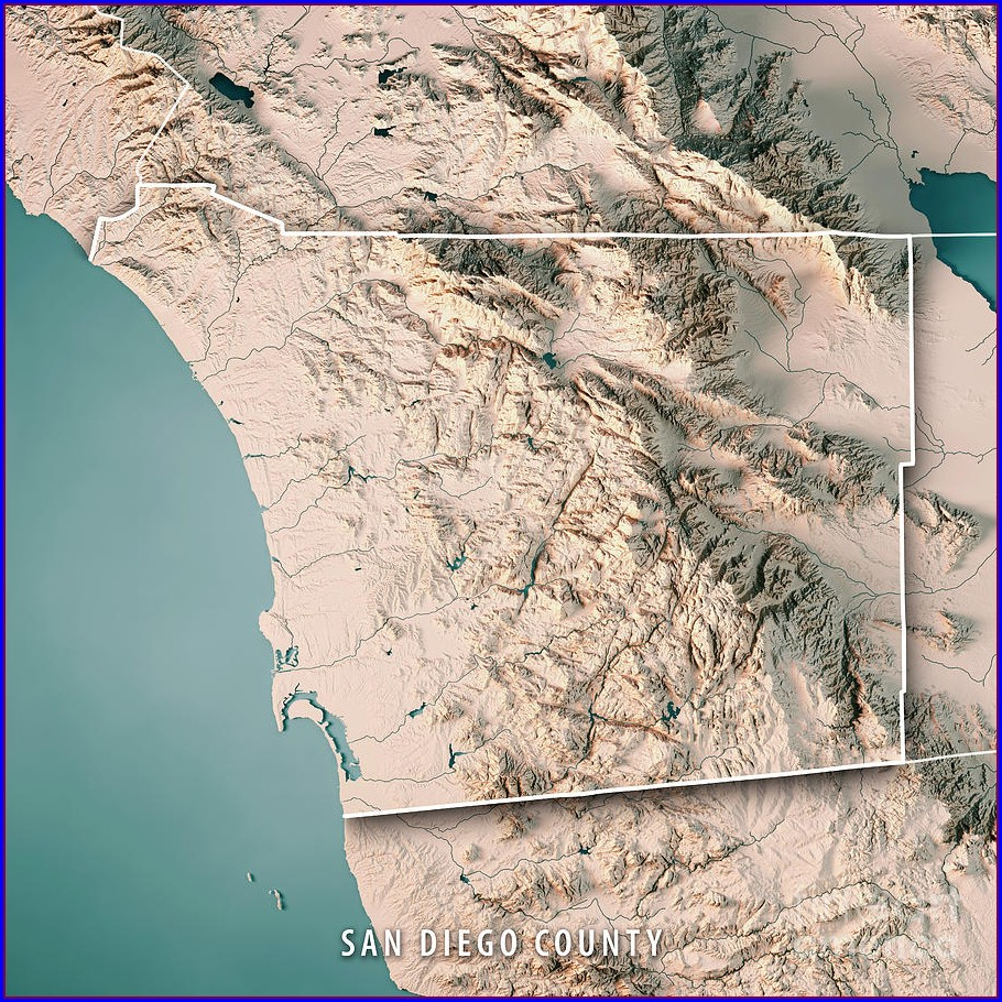 Topo Map Of San Diego County