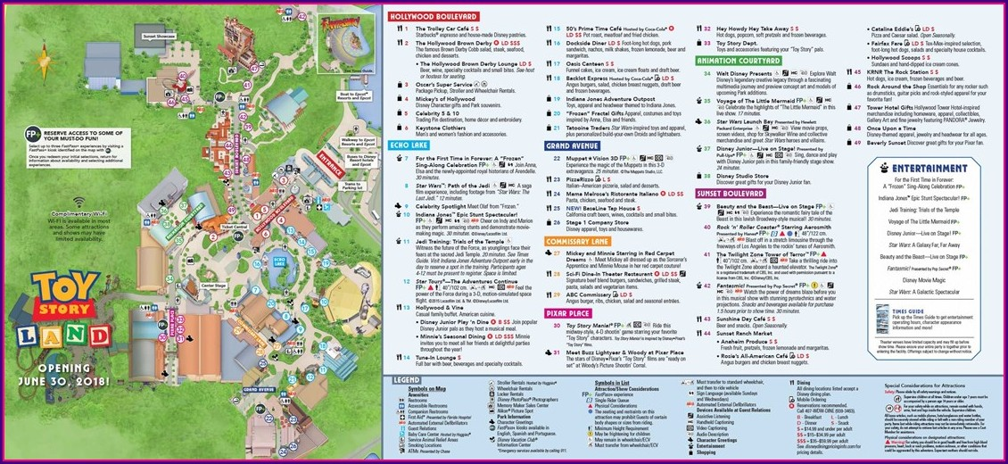 Toy Story Land Disney Hollywood Studios Map