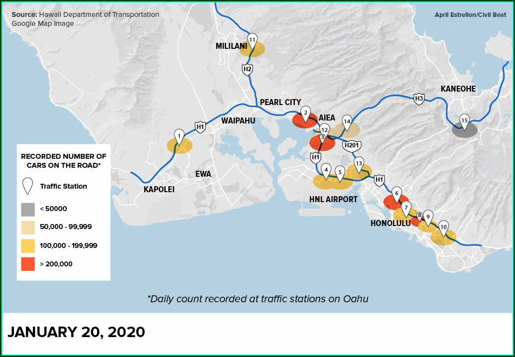 Traffic Flow Map Oahu