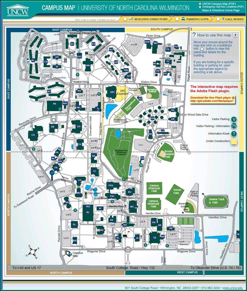 Trask Coliseum Uncw Map