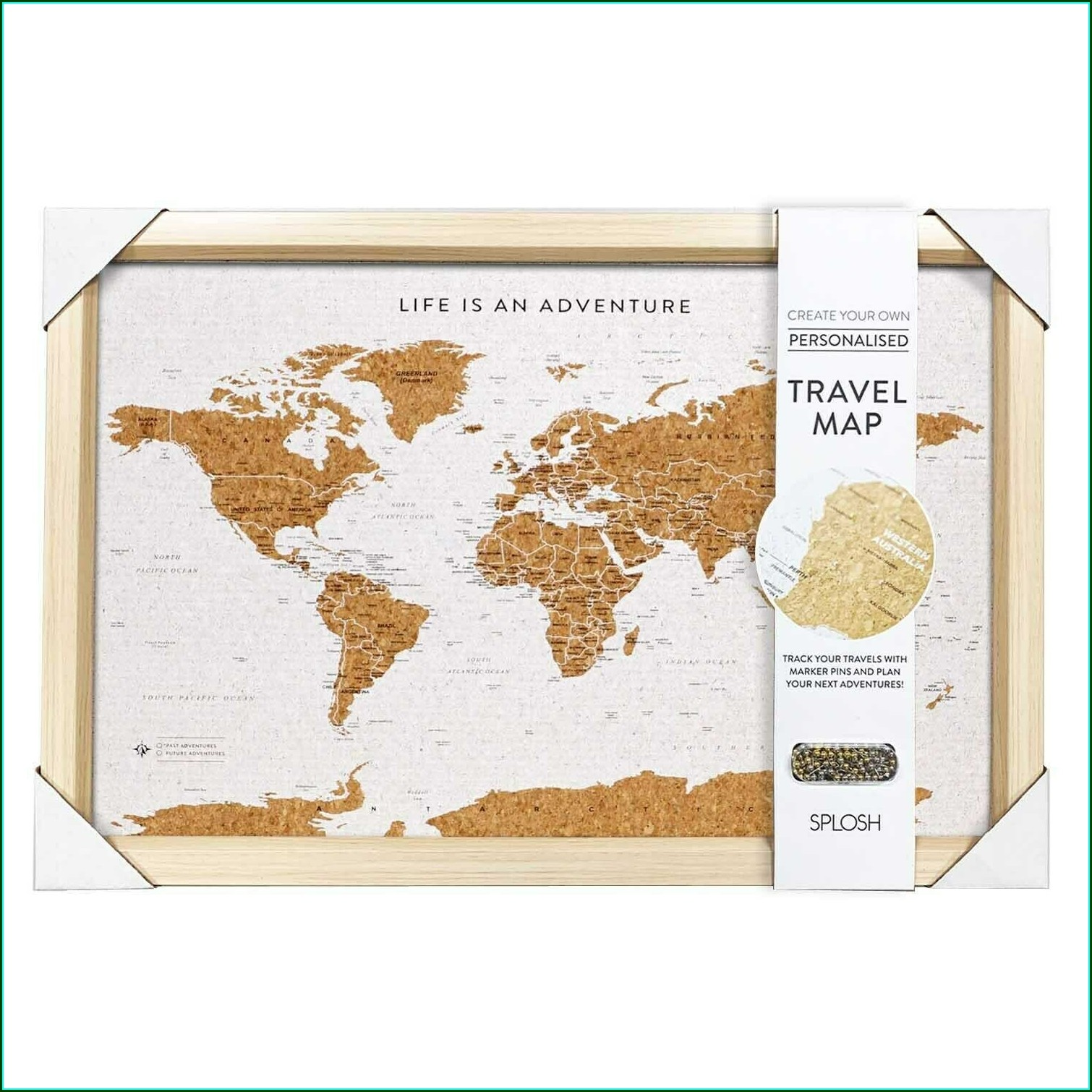 Travel Map Pin Board Online