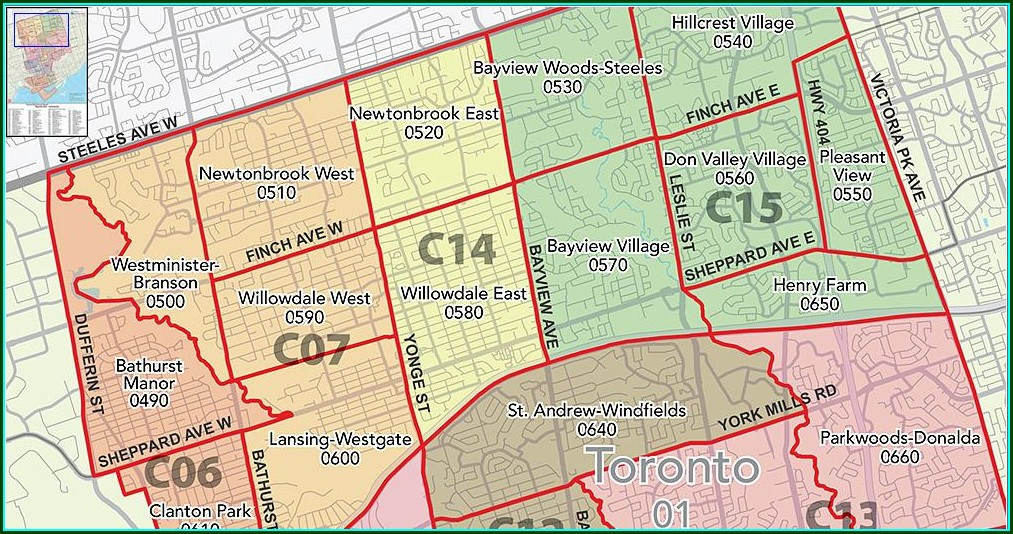 Treb District Map Toronto