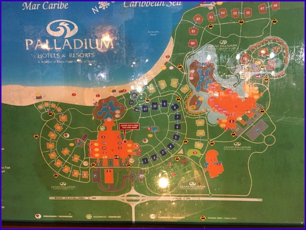 Trs Yucatan Hotel Resort Map
