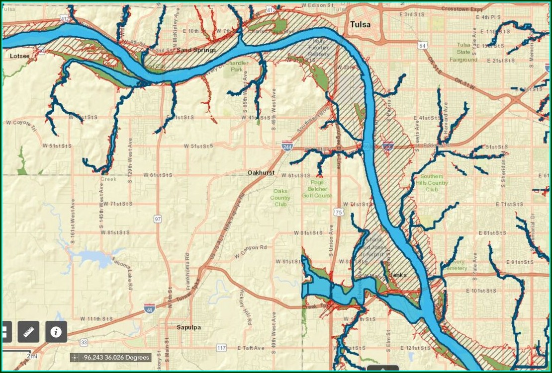 Tulsa County Flood Map