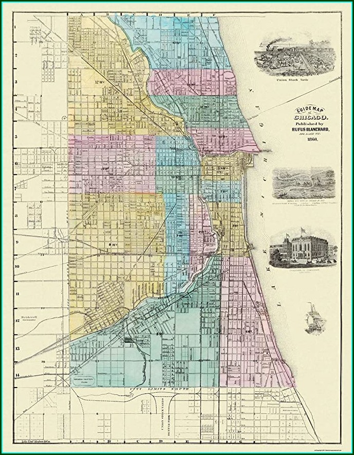 Union Stockyards Chicago Map