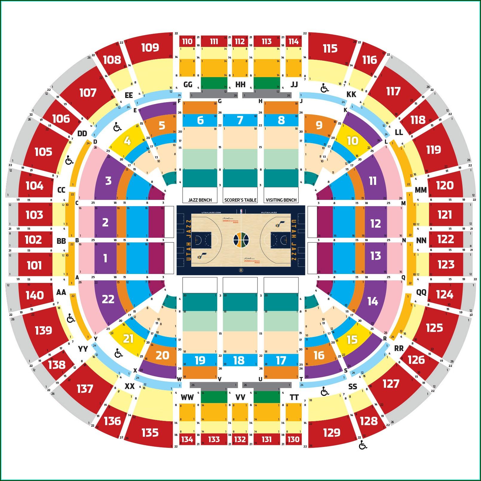 Utah Jazz Seating Map
