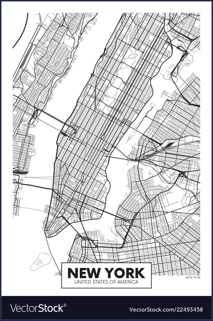Vector Street Map Nyc