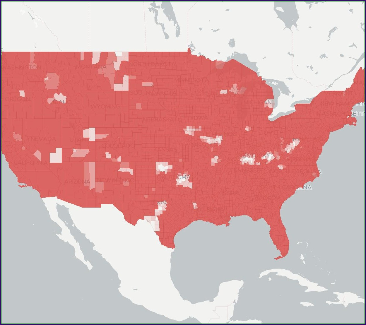 Verizon 4g Area Coverage Map