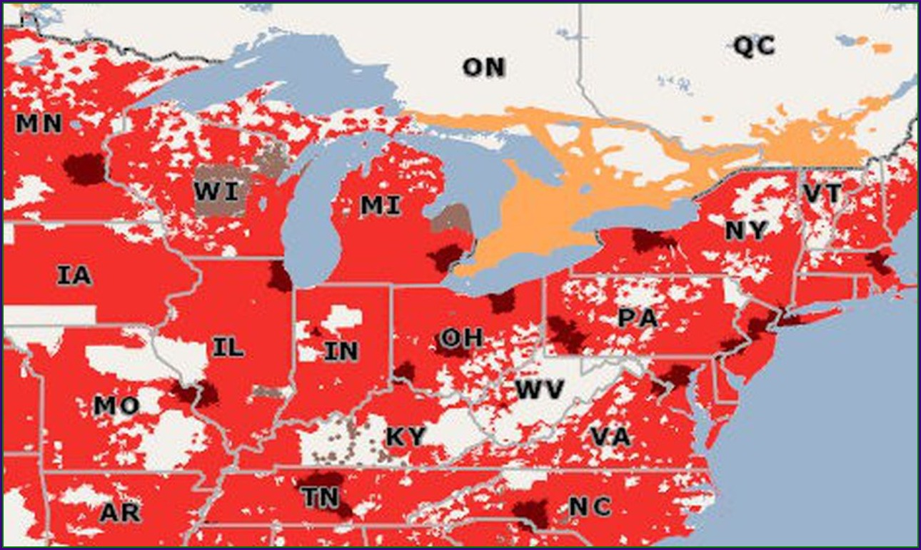 Verizon 4g Coverage Map Michigan