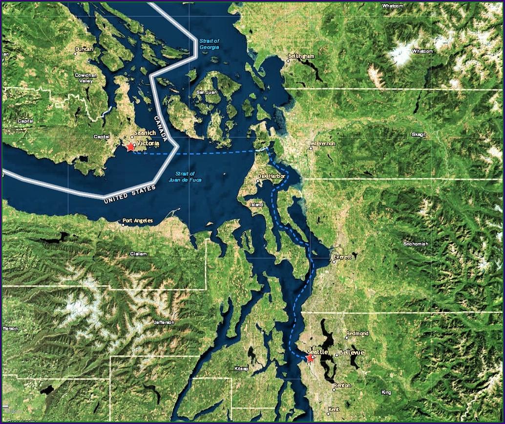Victoria Clipper Route Map