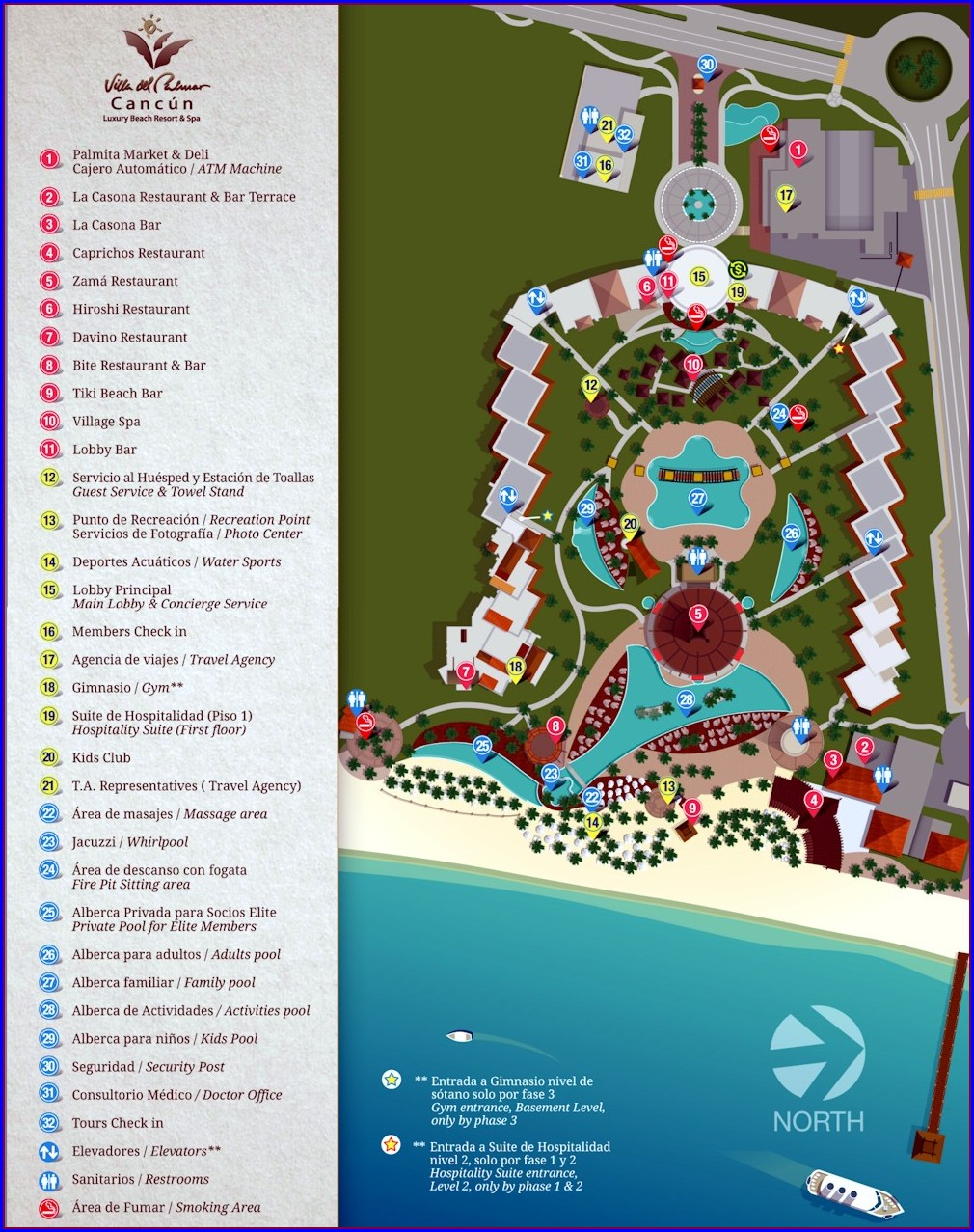 Villa Del Palmar Cancun Resort Map