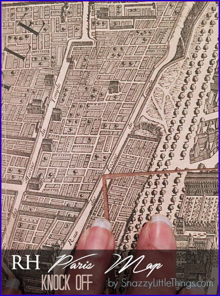 Vintage Paris Map Restoration Hardware