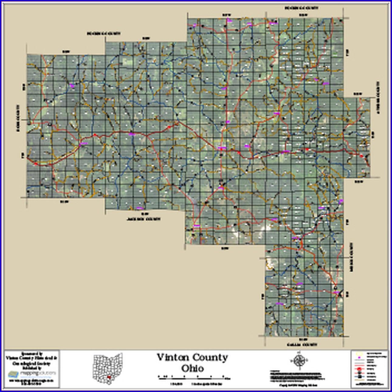 Vinton County Ohio Parcel Map