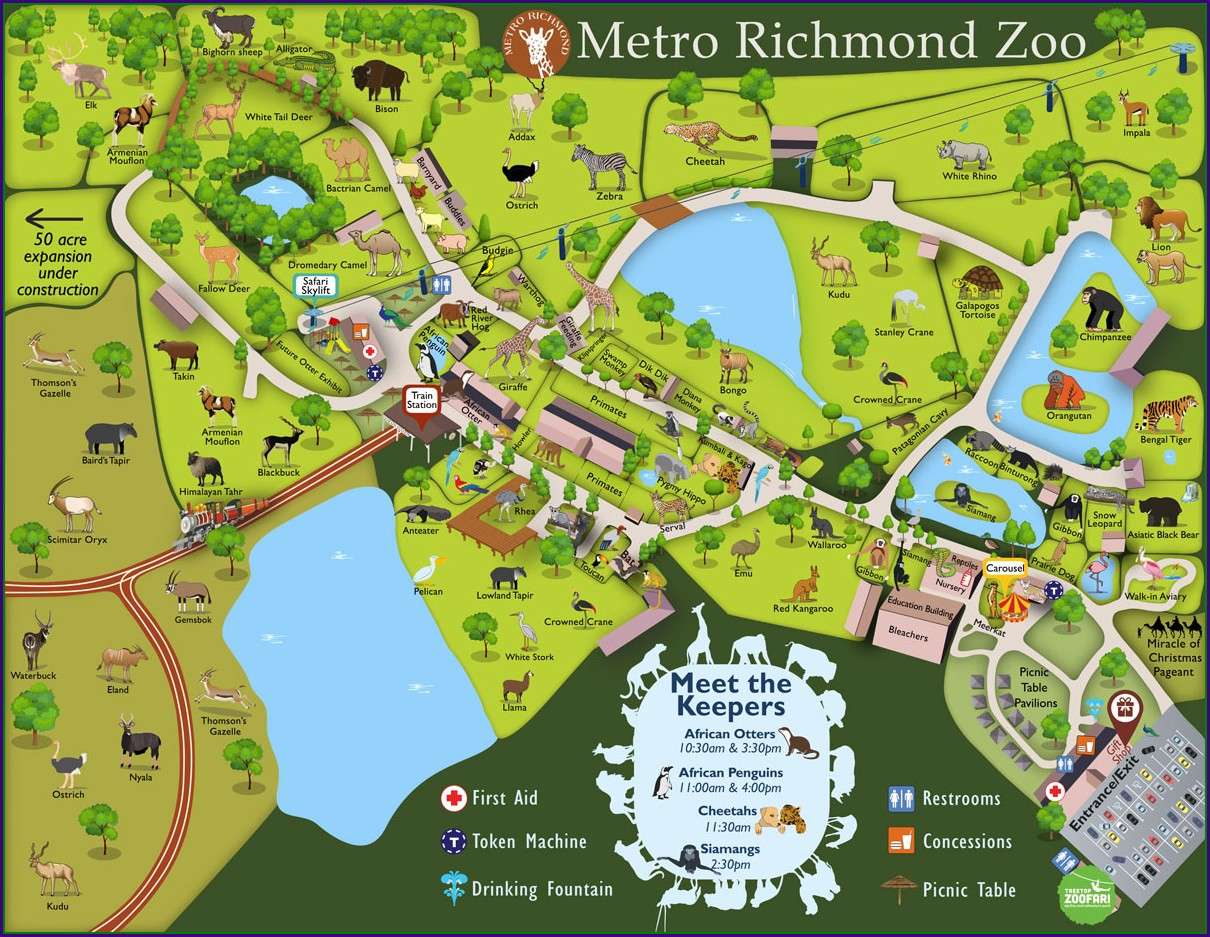 Virginia Beach Zoo Map