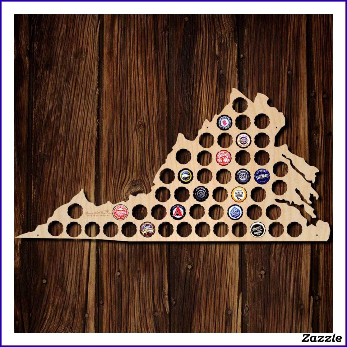 Virginia Bottle Cap Map