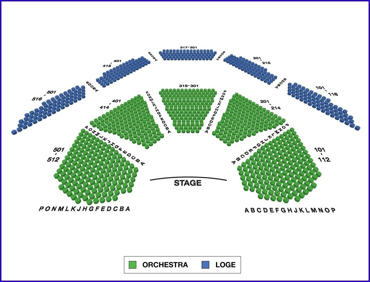 Vivian Beaumont Theater Seat Map